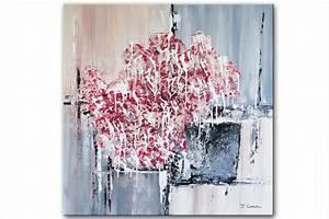 Tableau Contemporain Grand Format : tableau moderne carr gris beige grand format tableau contemporain carr gris beige rouge tendance ~ Teatrodelosmanantiales.com Idées de Décoration