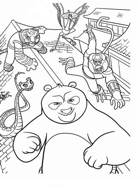 printable kung fu panda coloring pages