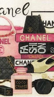 Chanel Collage | Plastic canvas crafts, Collage, Chanel