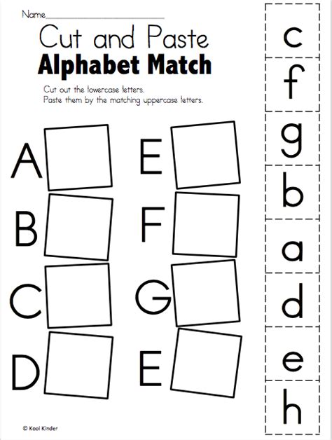 alphabet matching worksheets switchconf