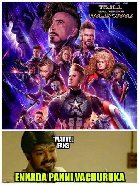 Avengers Endgame Super Heroes Hairstyle Meme Tamil Memes
