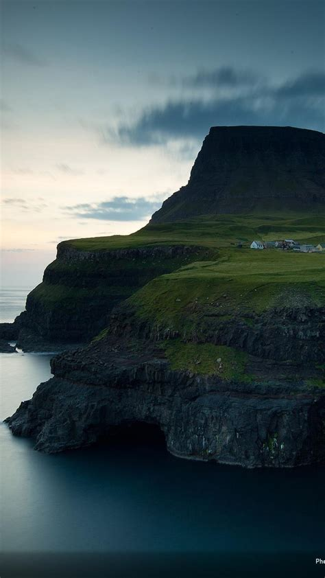 faroe islands gasadalur village national geographic cliffs