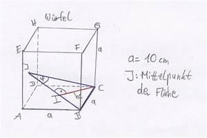 Trigonometrie Höhe Berechnen : trigonometrie im raum w rfel onlinemathe das mathe forum ~ Themetempest.com Abrechnung
