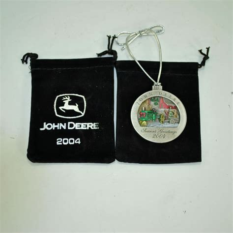 john deere limited edition 2004 pewter christmas ornament