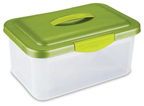 lime green storage containers