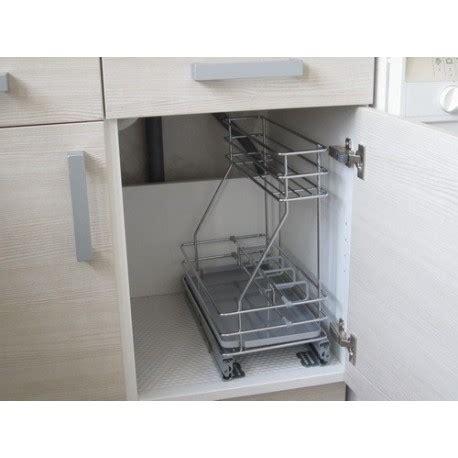 meuble cuisine largeur 50 cm sous évier coulissant détergents 23 cm cuisines bellissima