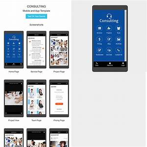 Consulting HTML Mobile App Template