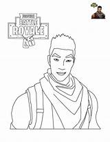 Coloring Fortnite Trooper Pages Fornite Printable Scar Shock sketch template