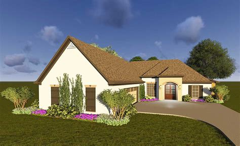 southern house plan  courtyard garage jw architectural designs house plans