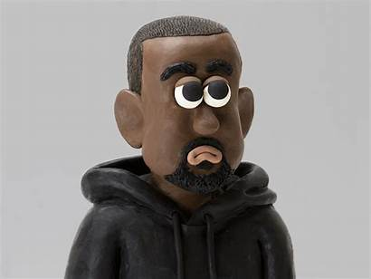 Kanye Highsnobiety Clay Rapper Dribbble Face