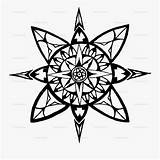 Compass Coloring Rose Adults Clipart Clipartkey sketch template
