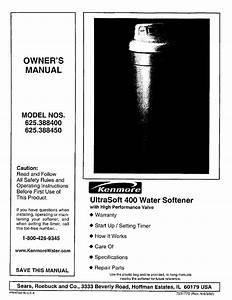 Kenmore Ultrasoft 400 625 38845 User Manual