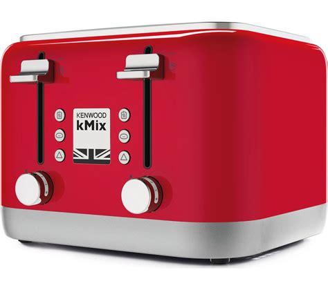 kenwood toaster kmix buy kenwood kmix tfx750rd 4 slice toaster free delivery currys