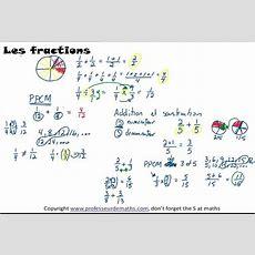 Addition Et Soustraction De Fractions Avec Dessins Youtube