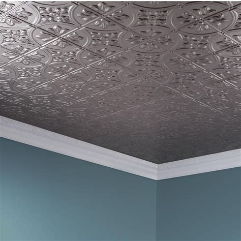 2x4 Acoustical Ceiling Tiles Home Depot by Fasade Ceiling Tile 2x4 Direct Apply Traditional 2 In