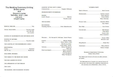 word wedding program templates