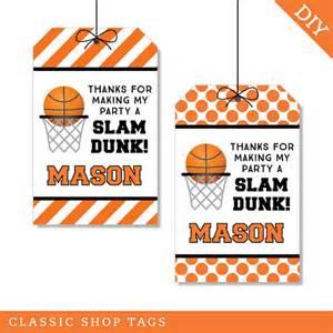 Free Printable Basketball Party Favor Tags