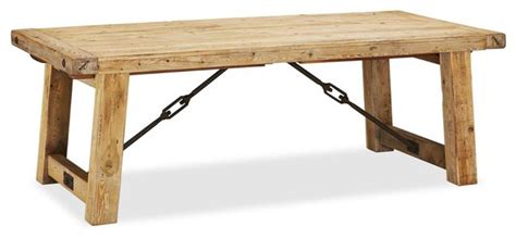 Benchwright Reclaimed Wood Extending Dining Table, Wax