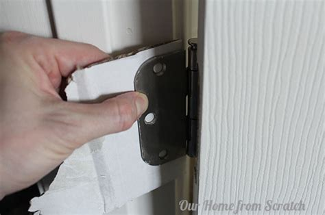 door hinge shims how to fix a sagging door by our home from scratch bob