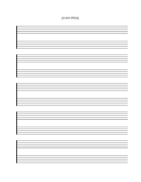 printable  staff sheet  double lines