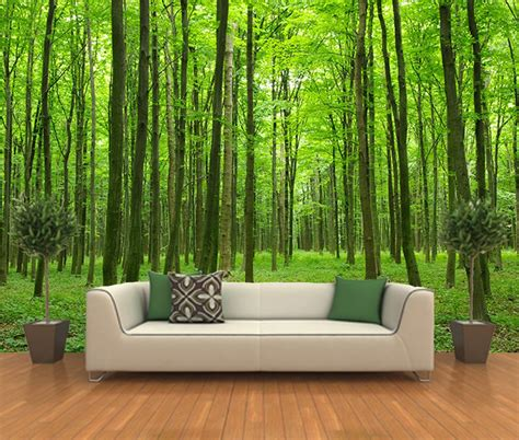 Wall Art Design Ideas Peel Stick Forest Wall Art