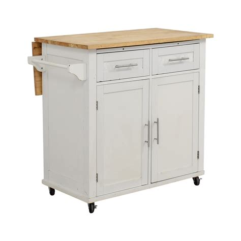 39% Off  Target Target White Kitchen Island  Tables