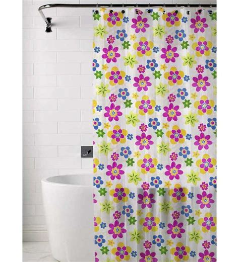 skipper multicolored floral print shower curtain by