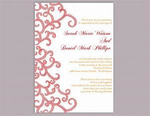 diy bollywood wedding invitation template editable word With indian wedding invitation word format