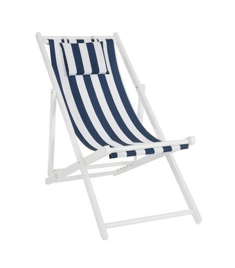 chaise blanc et bois chaise longue pliante chilienne en bois et tissu bleu et