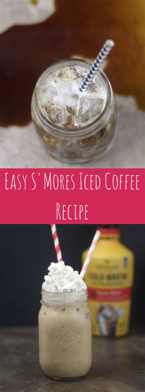 Make a jug of the coffee drink and keep it on hand in the refrigerator for whenever the mood strikes you and when a jolt of caffeine and sugar is in order. Easy S'Mores Iced Coffee Recipe ⋆ by Pink