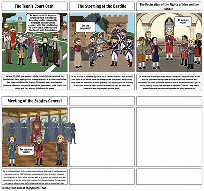 French Revolution Project History Storyboard Slide