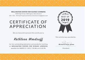 free certificate of appreciation for teacher template in With certificate of appreciation for teachers template