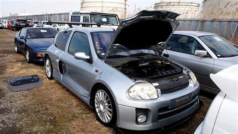 renault japan renault clio sport v6 lutecia japan purchase inspection