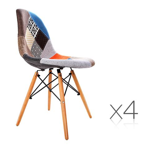 4pcs retro replica eames eiffel dsw dining chairs office