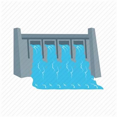Dam Icon Hydro Water Power Plant River
