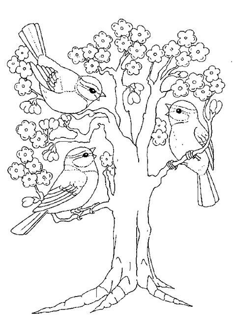 jeux de minnie cuisine coloriage trois petits oiseaux sur un arbre