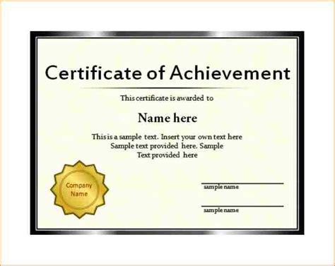 Certificate Template Powerpoint by 9 Powerpoint Certificate Template Academic Resume Template