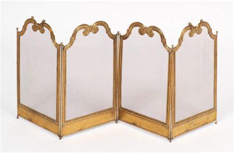 brass fireplace screen antique solid brass firescreen for at 1stdibs