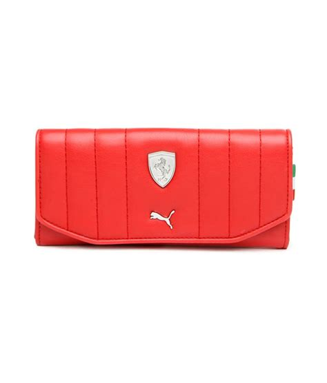 If you're looking for a wallet that would make you feel luxurious every time you take it out of your pocket, then look no further than this puma wallet. Buy Puma Women Red Ferrari Wallet at Best Prices in India - Snapdeal