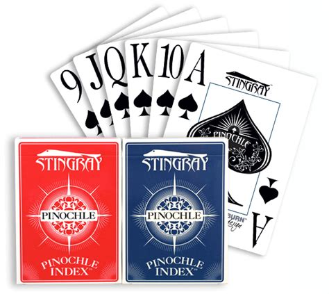 stingray pinochle index 2 decks