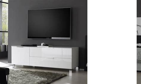 meuble tv design casa coloris blanc laqu 233