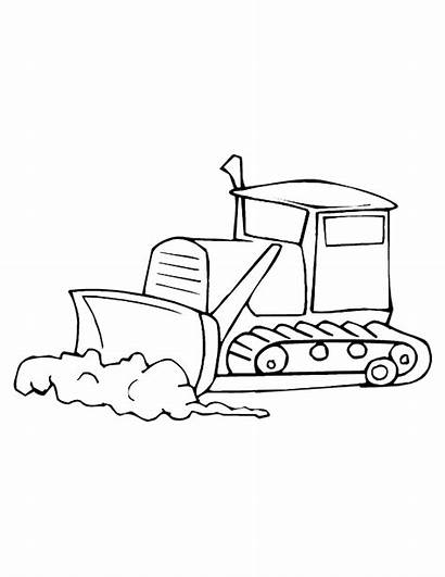 Construction Coloring Equipment Pages Printable Drawing Trucks