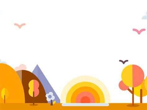 orange cute cartoons powerpoint background pictures