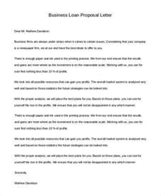 Business Loan Proposal Letter