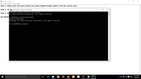 windows 10 start menu cortana taskbar not working solution
