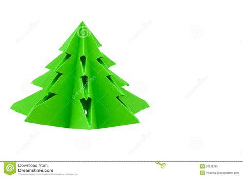 origami weihnachtsbaum lizenzfreies stockfoto bild 26639215