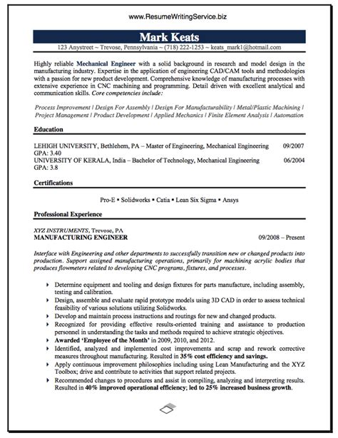 choosing  resume title  mechanical engineer resume title