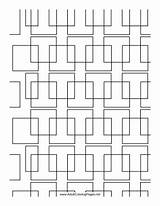Coloring Adult Printable Complex Square Pattern Adultcoloringpages sketch template