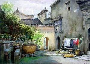 China Traditional Landscape Oil Painting Art Indian ...