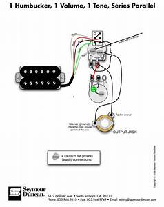 1 Humbucker  1 Volume  1 Tone  Series Parallel